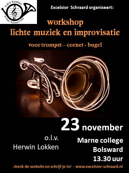 Workshop lichte muziek op 23 november