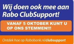 Wij doen mee met de RABO clubsupport, gun ons je stem!